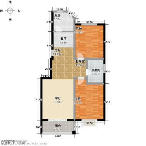 锦绣花园2室0厅1卫1厨116.00㎡户型图