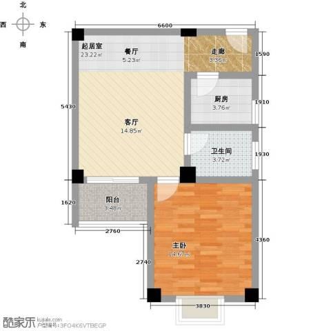锦绣花园1室0厅1卫1厨71.00㎡户型图