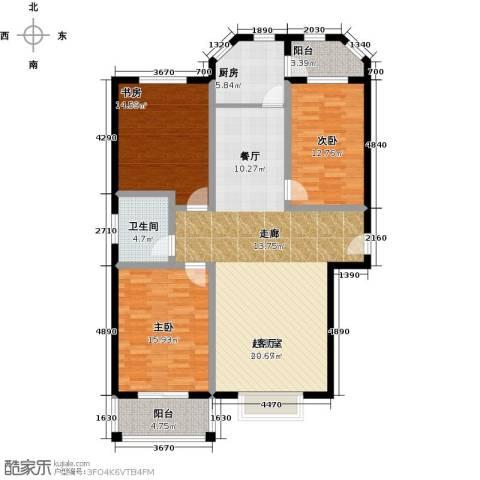 锦绣花园3室0厅1卫1厨151.00㎡户型图