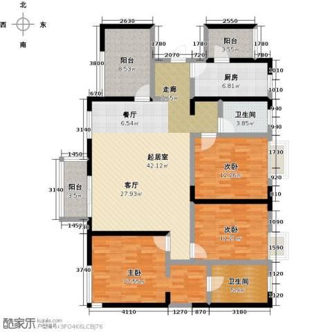 元氏天山水榭花都3室0厅2卫1厨133.00㎡户型图