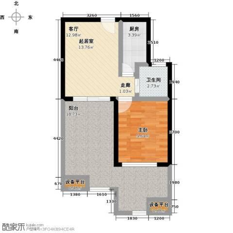 山泉海1室0厅1卫1厨73.00㎡户型图