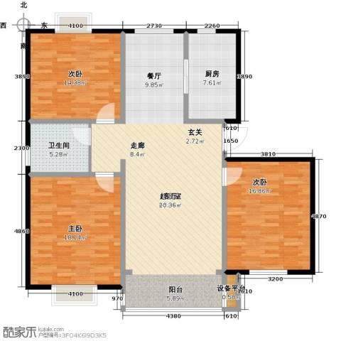 长安祥育苑3室0厅1卫1厨119.00㎡户型图
