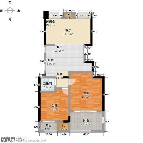 国贸仁皇2室0厅1卫0厨90.00㎡户型图