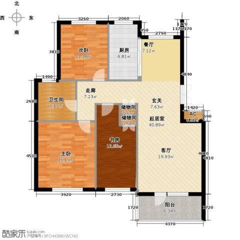 鲁能东方优山美地3室0厅1卫1厨113.00㎡户型图