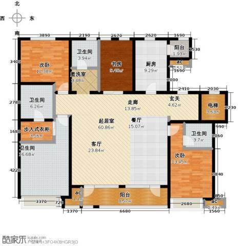 万科城3室0厅4卫1厨200.00㎡户型图