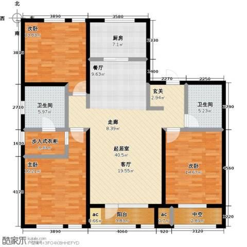 万科城3室0厅2卫1厨165.00㎡户型图