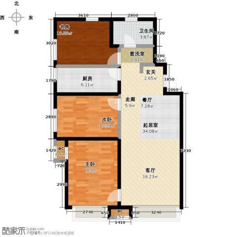 万科城3室0厅1卫1厨115.00㎡户型图