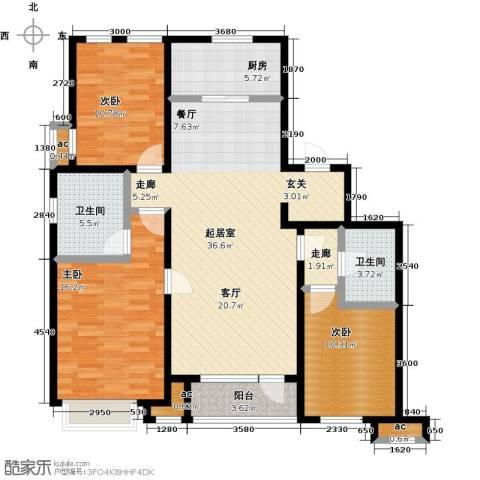 万科城3室0厅2卫1厨135.00㎡户型图