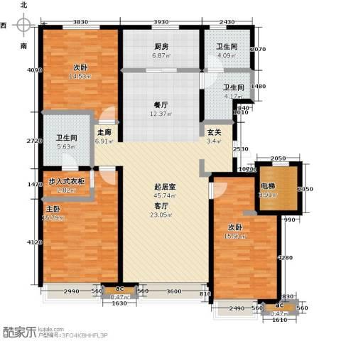 万科城3室0厅3卫1厨150.00㎡户型图