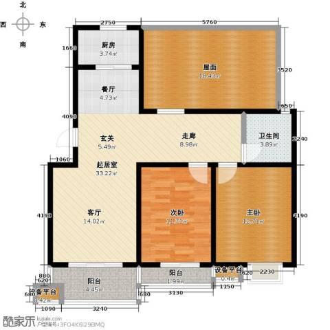 亚美国际花园2室0厅1卫1厨103.00㎡户型图