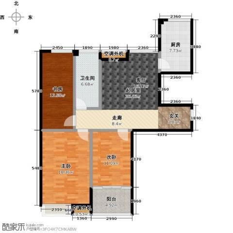 润地凤凰城3室0厅1卫1厨113.00㎡户型图