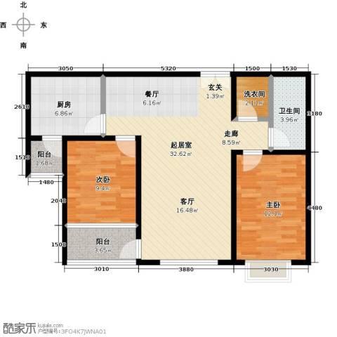 雪峰花园2室0厅1卫1厨98.00㎡户型图