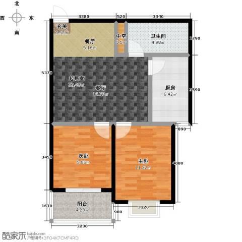 润地凤凰城2室0厅1卫1厨78.00㎡户型图