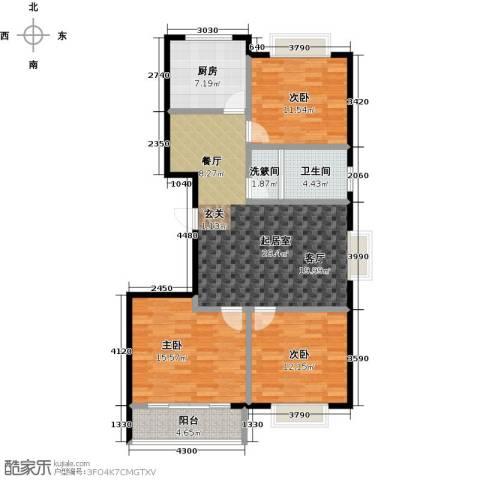 润地凤凰城3室0厅1卫1厨108.00㎡户型图