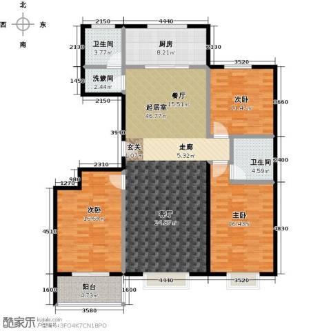 润地凤凰城3室0厅2卫1厨143.00㎡户型图