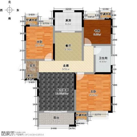 扬州华润橡树湾3室0厅1卫1厨110.00㎡户型图