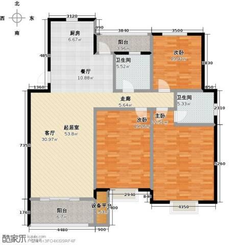 长安祥育苑3室0厅2卫0厨138.00㎡户型图