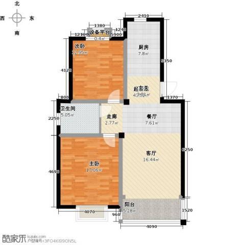 长安祥育苑2室0厅1卫0厨89.00㎡户型图