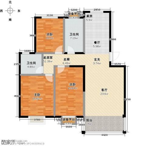 长安祥育苑3室0厅2卫0厨117.00㎡户型图