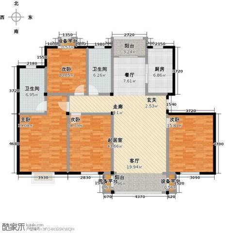 长安祥育苑4室0厅2卫1厨149.00㎡户型图