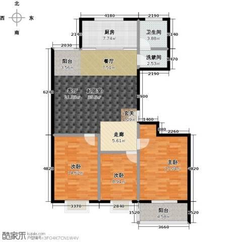 润地凤凰城3室0厅1卫1厨123.00㎡户型图