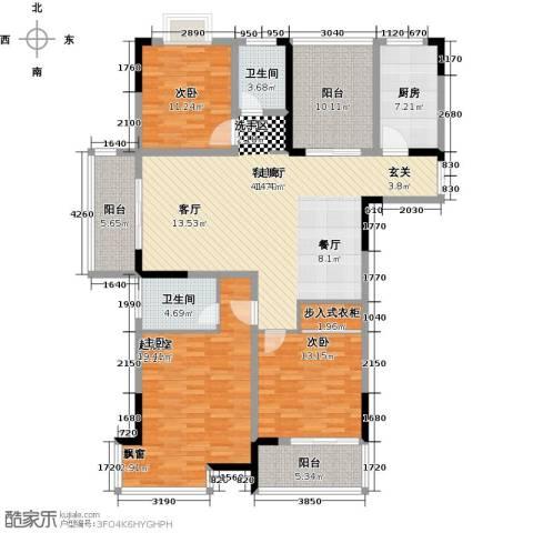 皇廷御苑2室1厅2卫1厨181.00㎡户型图