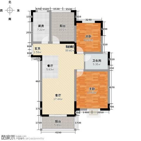 皇廷御苑2室1厅1卫1厨135.00㎡户型图