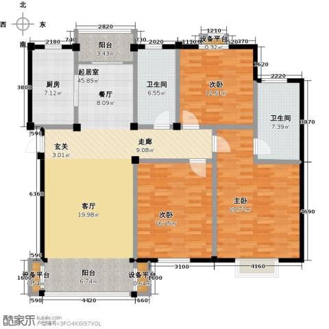 长安祥育苑3室0厅2卫1厨134.00㎡户型图