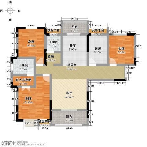 阳光新干线3室0厅2卫1厨130.00㎡户型图