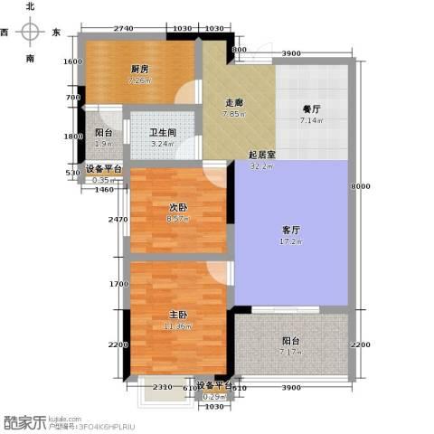 阳光新干线2室0厅1卫1厨100.00㎡户型图