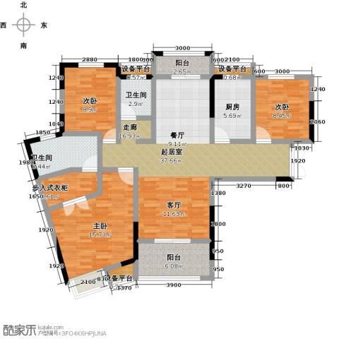 阳光新干线3室0厅2卫1厨138.00㎡户型图