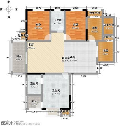 阳光新干线2室0厅3卫1厨128.00㎡户型图