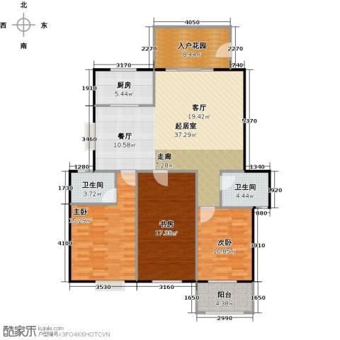 中科蓝湾国际3室0厅2卫1厨144.00㎡户型图