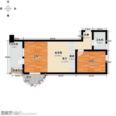 御庭春MOM∧白金海岸公寓1室0厅2卫0厨77.00㎡户型图
