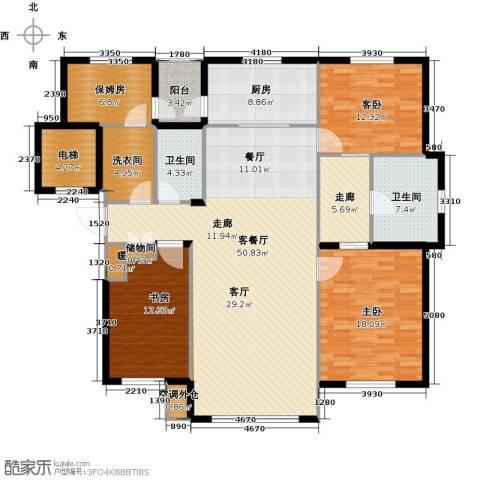 鼎盛佳苑3室1厅2卫1厨196.00㎡户型图