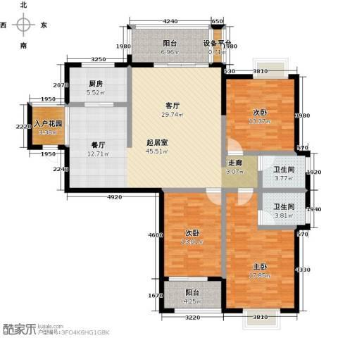 瑞景城3室0厅2卫1厨131.00㎡户型图