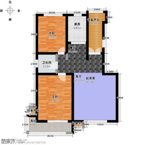文化星城2室0厅1卫1厨109.00㎡户型图