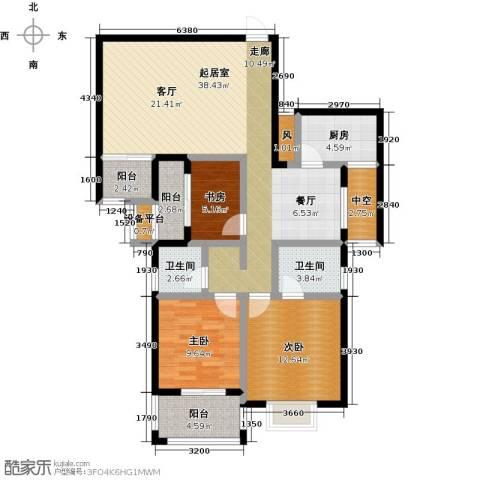 瑞景城3室0厅2卫1厨108.00㎡户型图