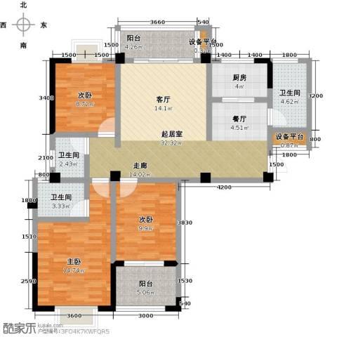瑞景城3室0厅3卫1厨134.00㎡户型图