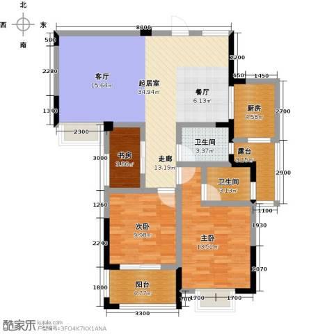 瑞景城3室0厅2卫1厨119.00㎡户型图