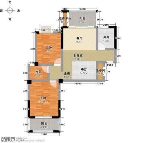 瑞景城3室0厅0卫1厨100.00㎡户型图