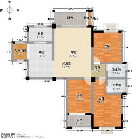 瑞景城3室0厅2卫1厨146.00㎡户型图