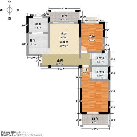 瑞景城2室0厅2卫1厨109.00㎡户型图
