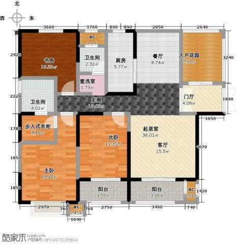 君河湾3室0厅2卫1厨157.00㎡户型图
