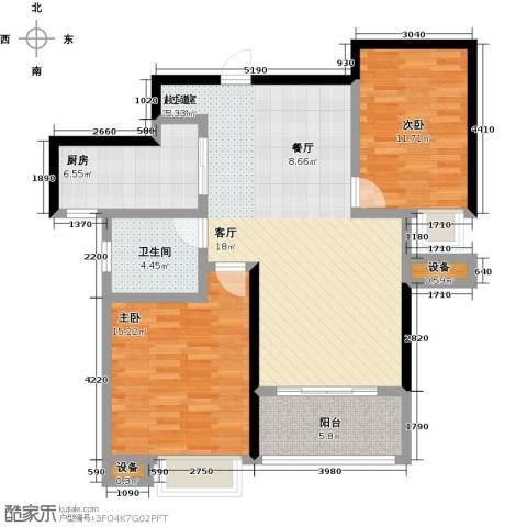 友创健康城2室0厅1卫1厨111.00㎡户型图