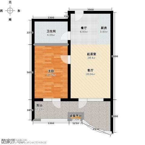 御庭春MOM∧白金海岸公寓1室0厅1卫0厨80.00㎡户型图