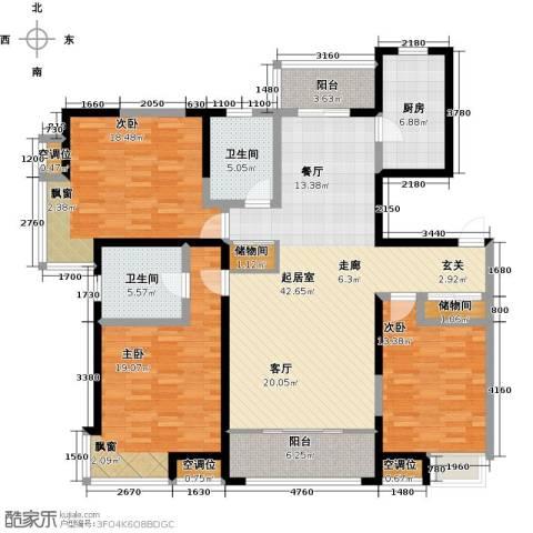 杏坛中心城3室0厅2卫1厨181.00㎡户型图
