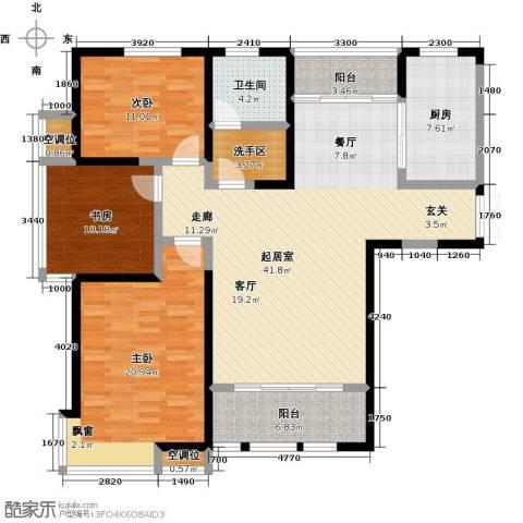杏坛中心城3室0厅1卫1厨160.00㎡户型图