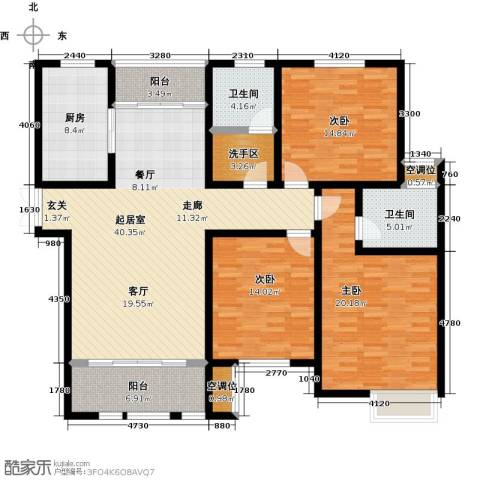 杏坛中心城3室0厅2卫1厨176.00㎡户型图