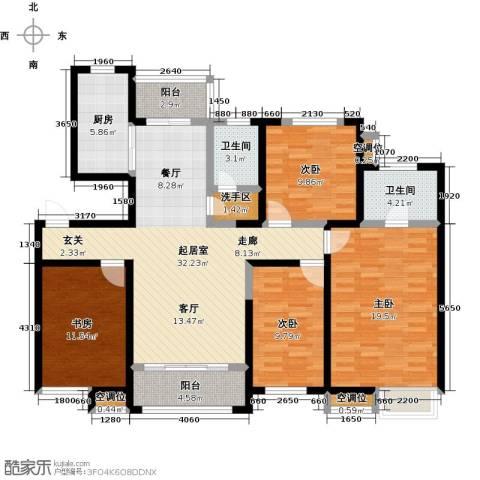 杏坛中心城4室0厅2卫1厨156.00㎡户型图